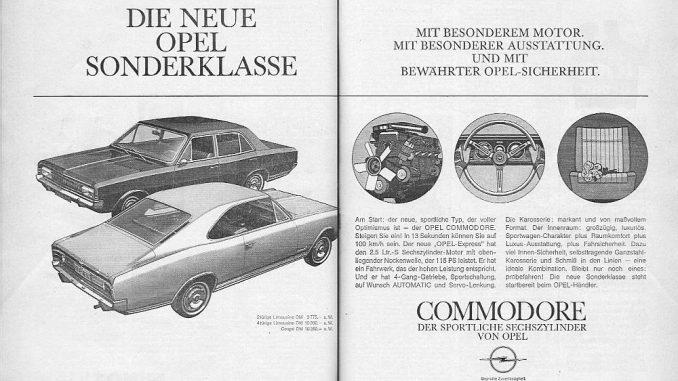 """""""Mit besonderem Motor. Mit besonderer Ausstattung. Und mit bewährter Opel-Sicherheit."""" - so führt Opel 1967 den neuen Sechszylinder ein, der in drei Varianten zum Preis ab 9.775 DM ab Werk erhältlich ist. """"In 13 Sekunden können Sie auf 100 km/h sein"""" - das ist der neue OPEL-Express!"""
