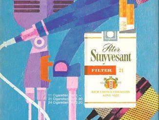 Auch die Zigarettenmarke Peter Stuyvesant (benannt nach dem ersten Gouverneur von Nieuw Amsterdam, dem späteren New York) setzt in dieser Anzeige aus dem Jahr 1967 auf Kunst.