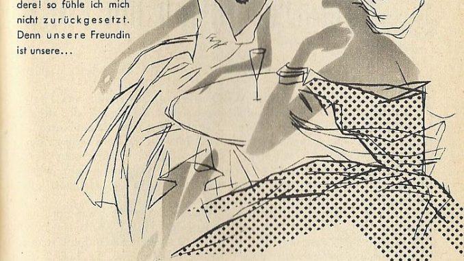 1956 wirbt Borgward für die Isabella mit einer etwas zweideutigen Anzeige.