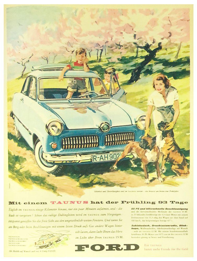 Anzeige für den Ford Taunus 15 M von 1957.